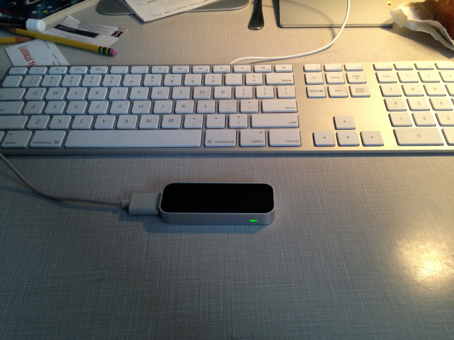 The Leap Motion device